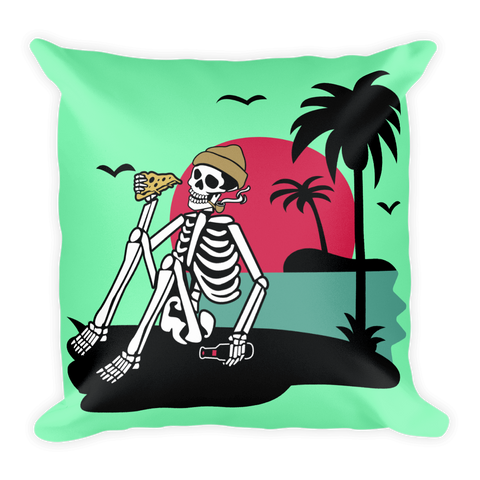Pizza By The Palms Basic Pillow - BlackKohco