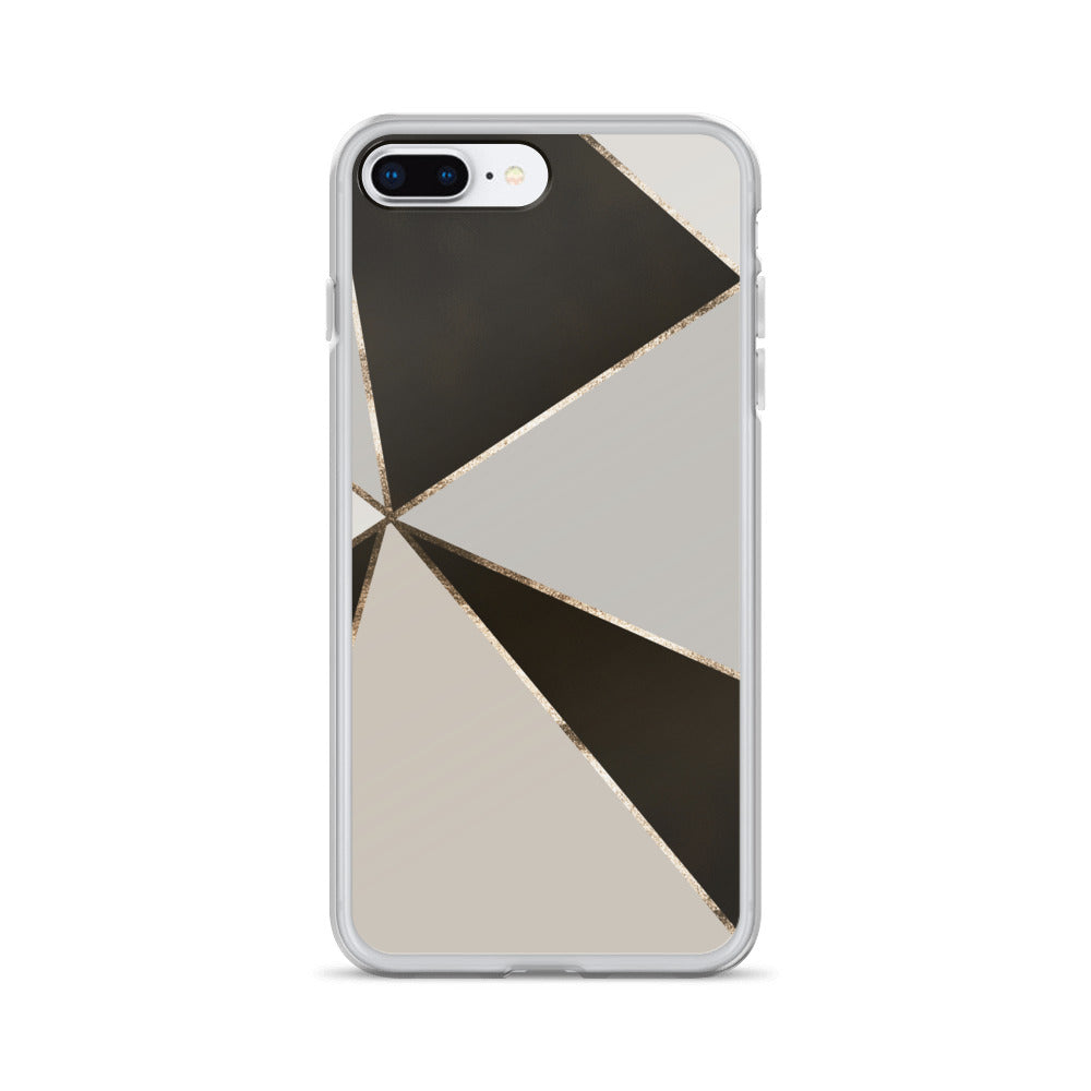 Pattern Black Silver iPhone Case - BlackKohco