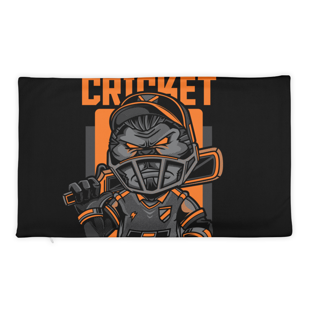 Cricket Game Basic Pillow Case only - BlackKohco