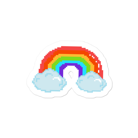 Cloud And Rainbows Vinyl Bubble-free stickers