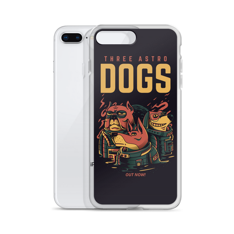 Three Astro Dogs iPhone Case