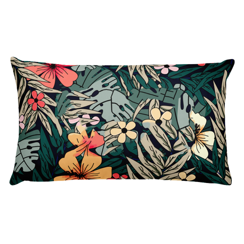 Tropical background Basic Pillow