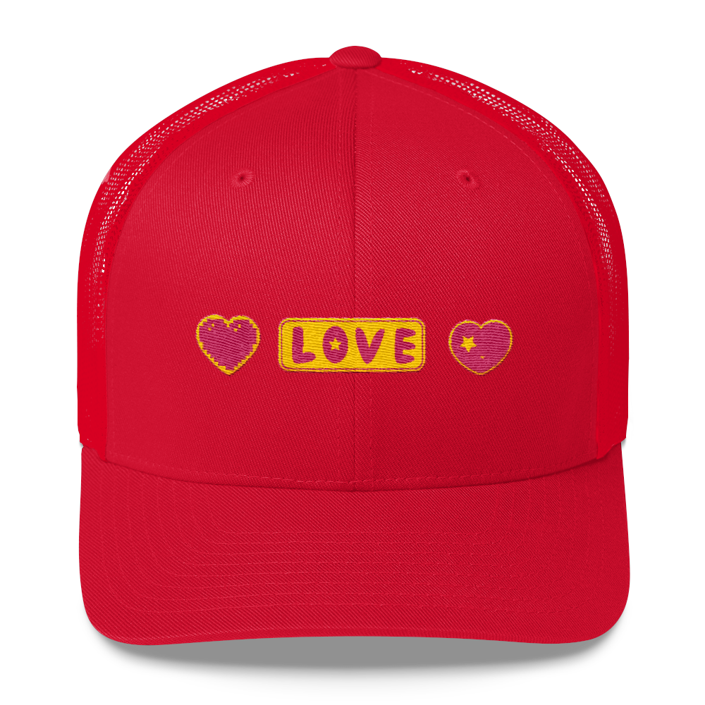 Love Hearts Trucker Cap - BlackKohco