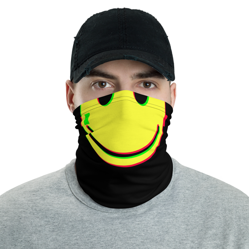 Smiley Neck Gaiter - BlackKohco