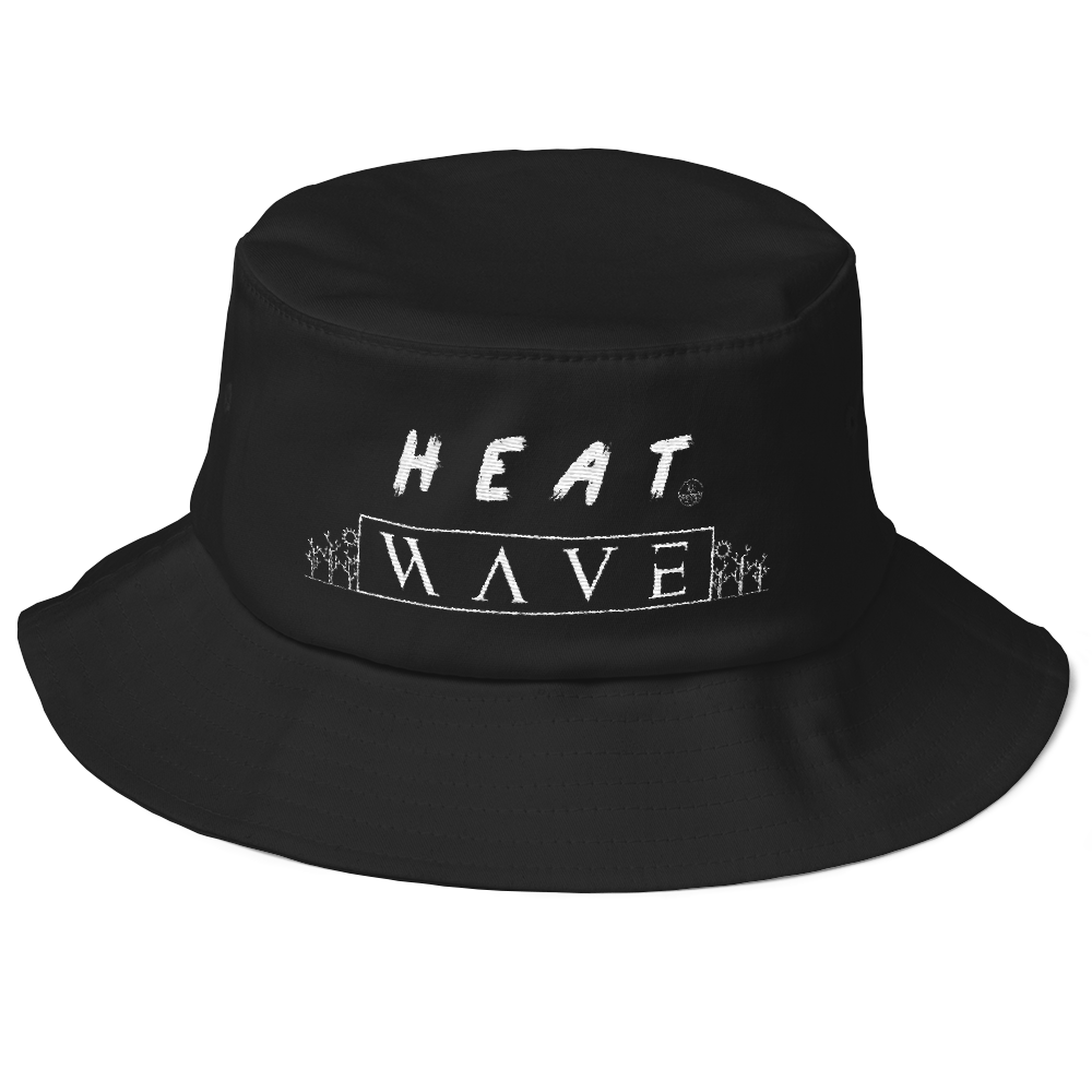 Heat Wave Old School Bucket Hat - BlackKohco
