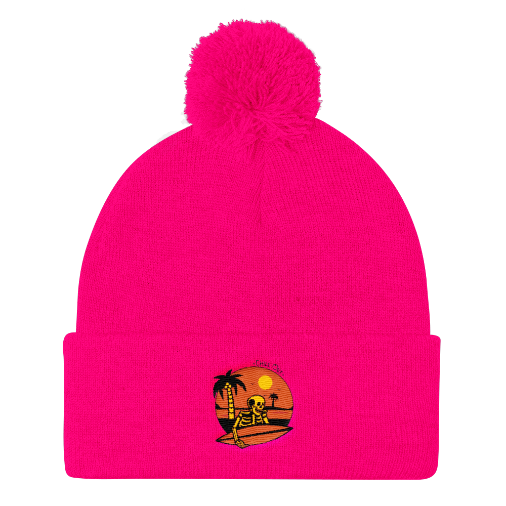 Chill Out Pom Pom Knit Cap