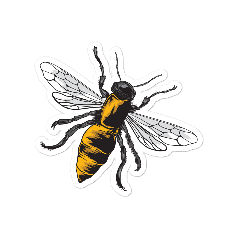 Wasp Vinyl sticker