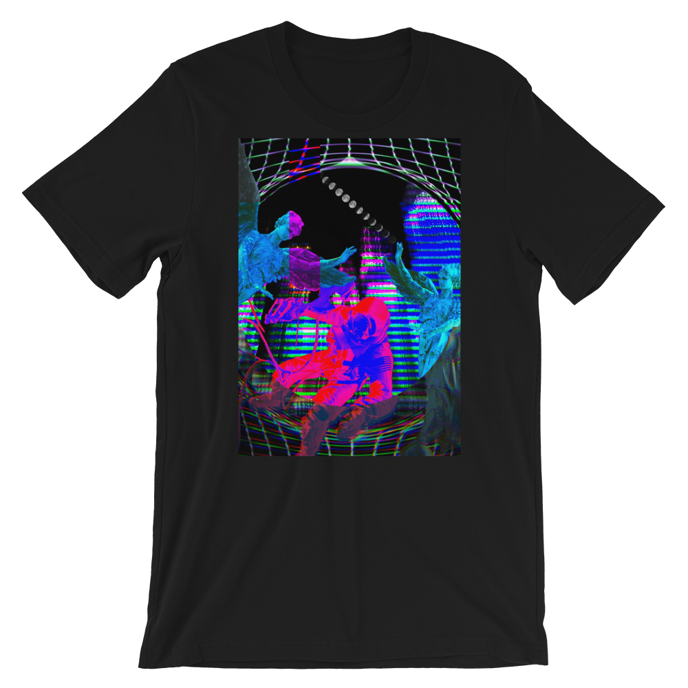 Intergalactic Warp Short-Sleeve Unisex T-Shirt - BlackKohco