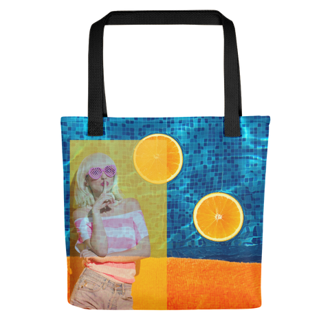 Shhh And Swim Tote Bag