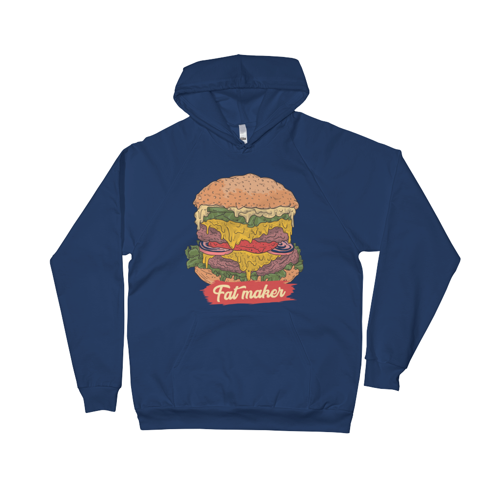 FAT MAKER Unisex Fleece Hoodie - BlackKohco
