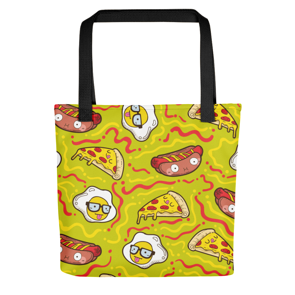 Pizza And Hot Dogs Tote Bag