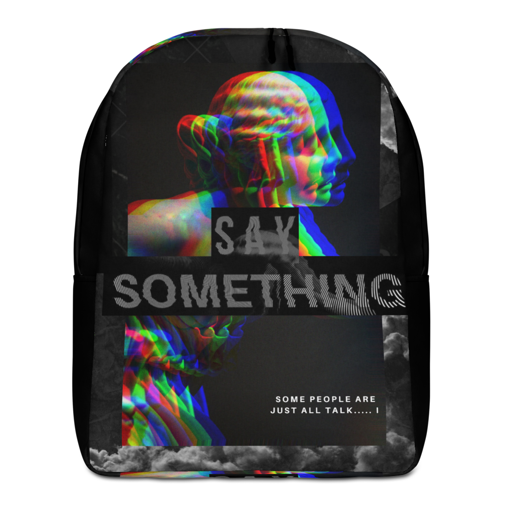 Say Something Minimalist Backpack - BlackKohco