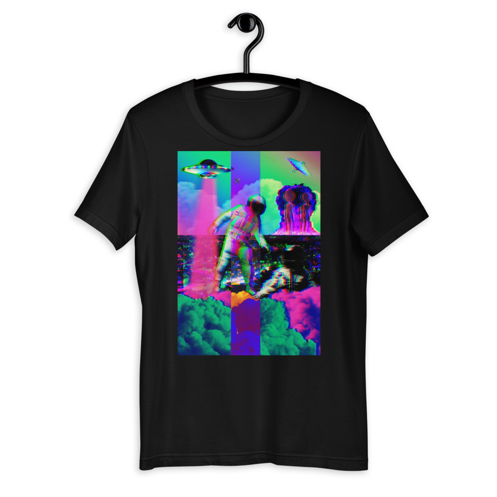 Hectic Space Earth Short-Sleeve Unisex T-Shirt - BlackKohco