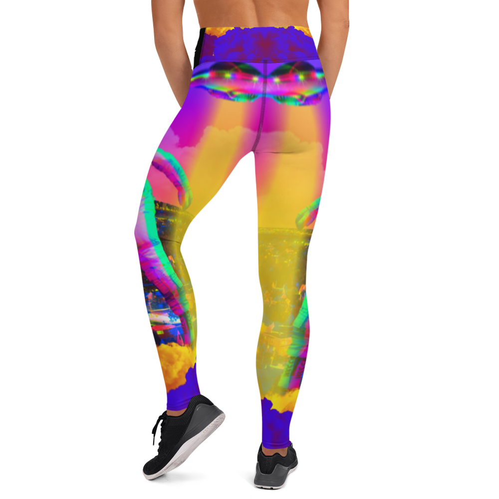 Hectic Space Yoga Leggings - BlackKohco