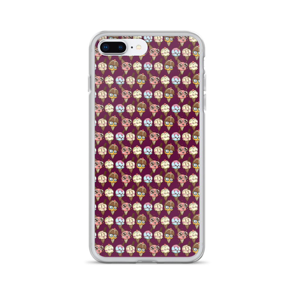 Emoji Ice Creams iPhone Case - BlackKohco