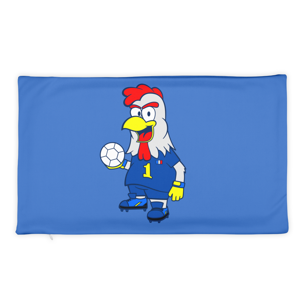 Mascot-Rooster-French-National-Team Basic Pillow Case only - BlackKohco