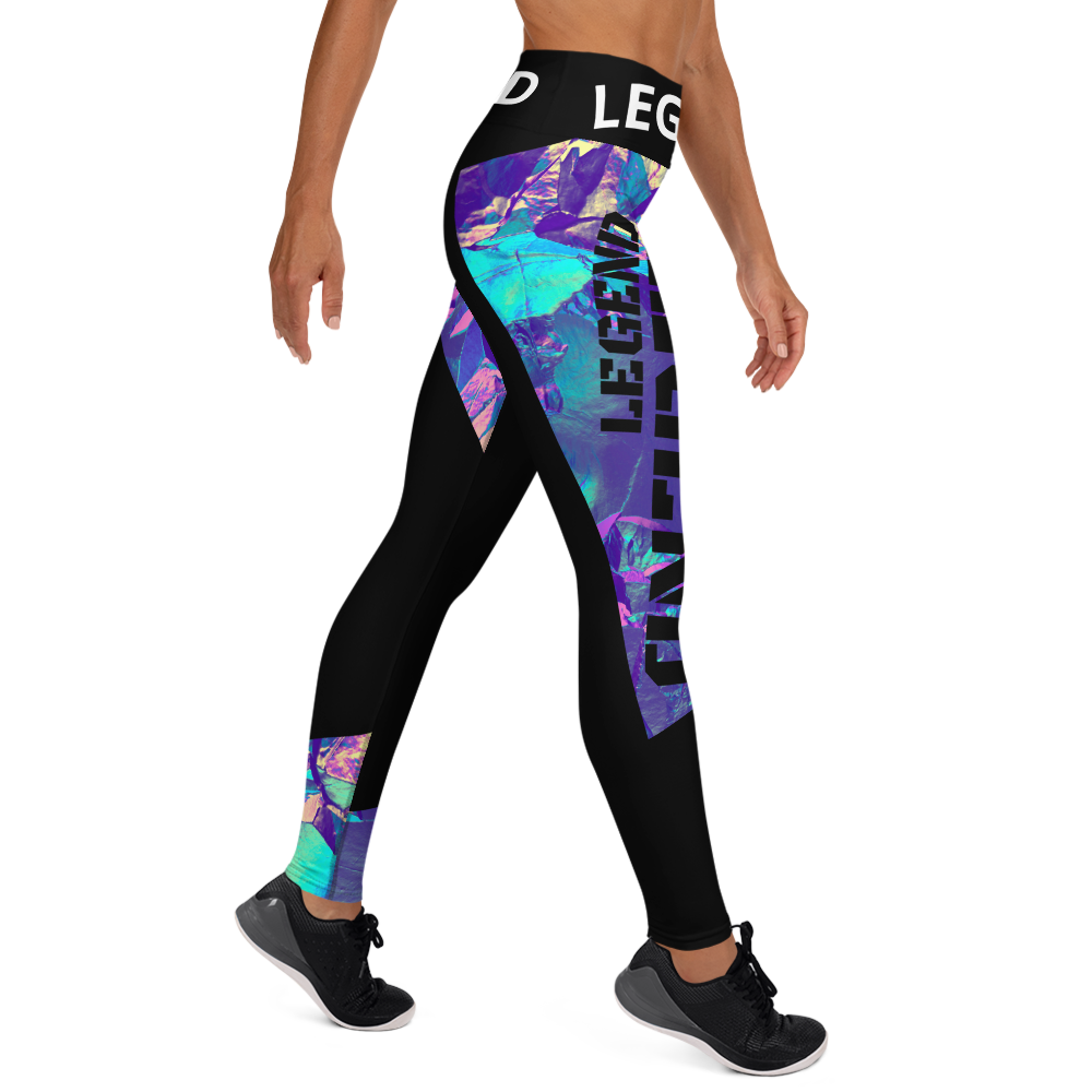 Legend Art Print  Yoga Leggings With Pockets - BlackKohco