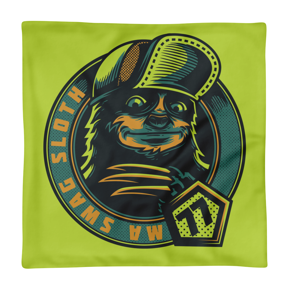 Ma Swag Sloth Basic Pillow Case only - BlackKohco