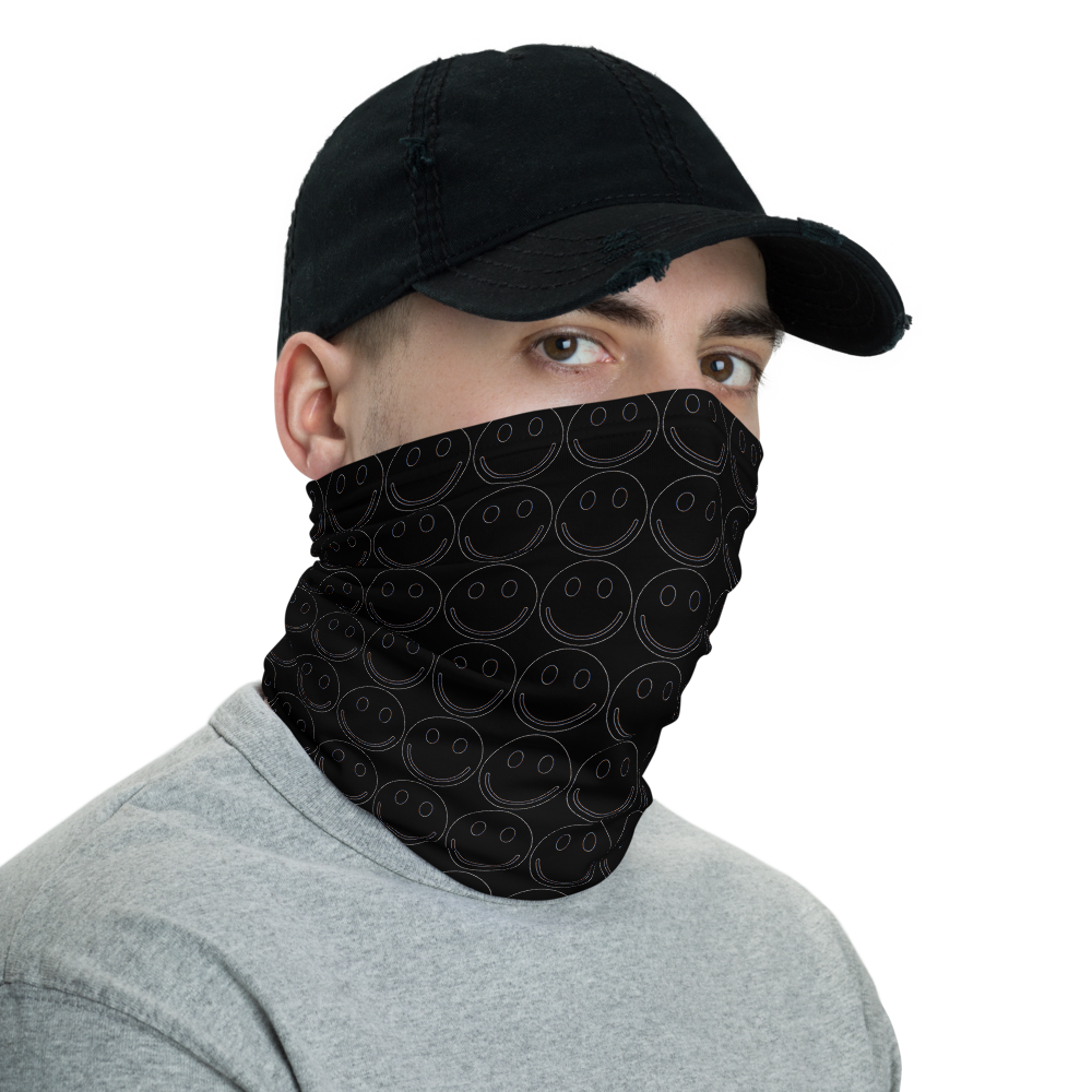 Smile Neck Gaiter - BlackKohco