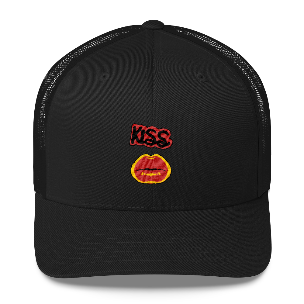 Kiss Hot Lips Trucker Cap - BlackKohco