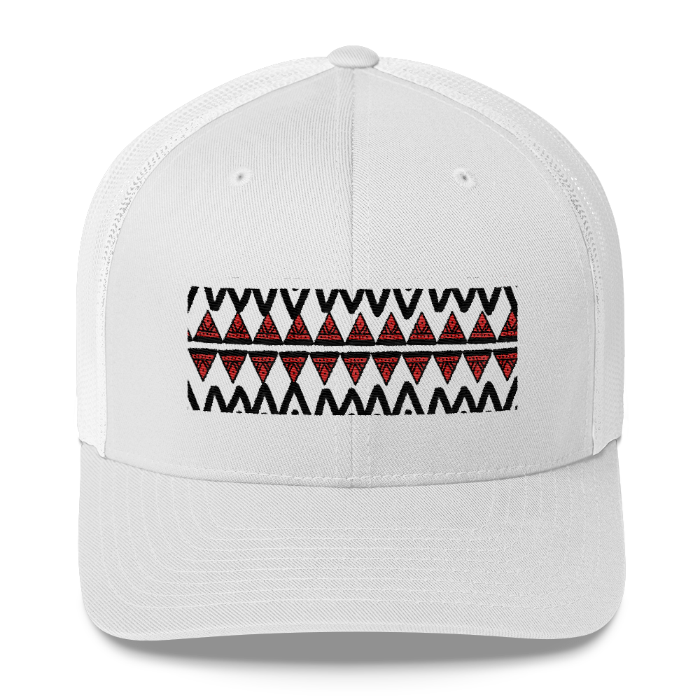 Tribe Pattern Trucker Cap - BlackKohco