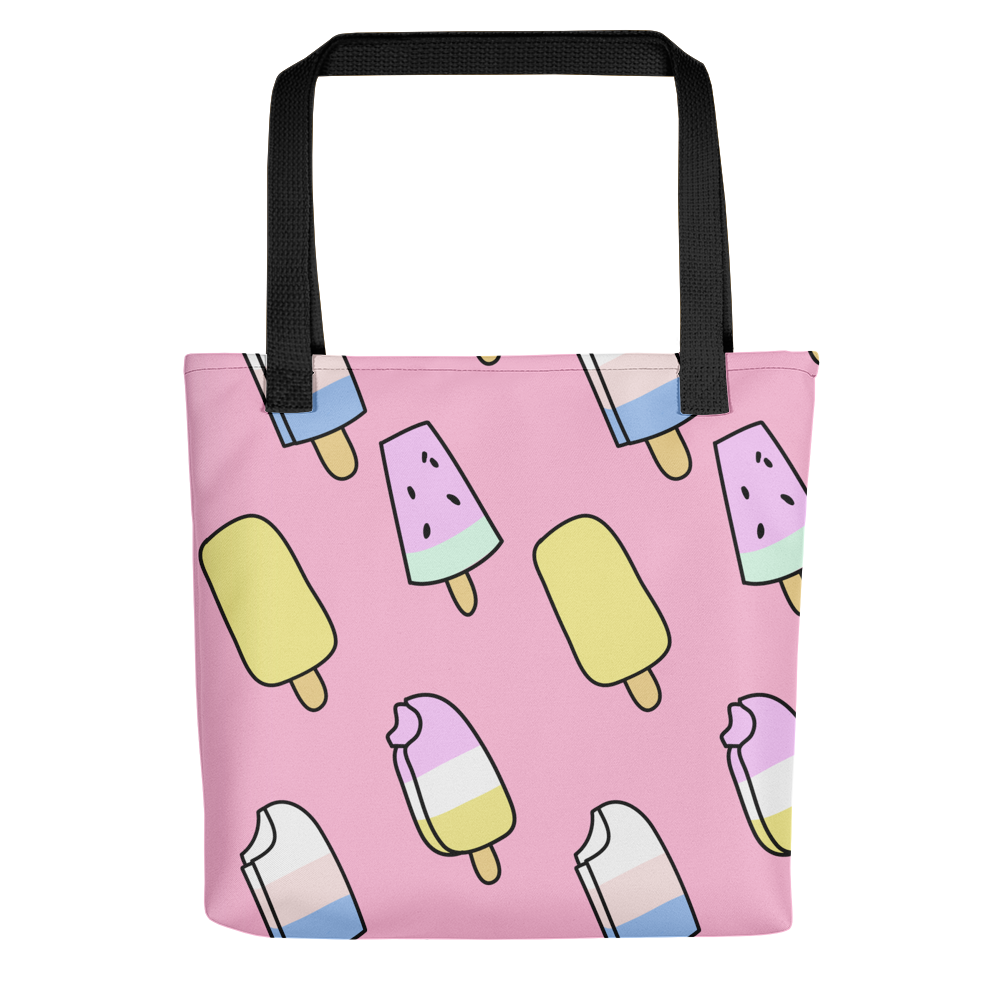 Colorful Ice-Cream Tote bag - BlackKohco