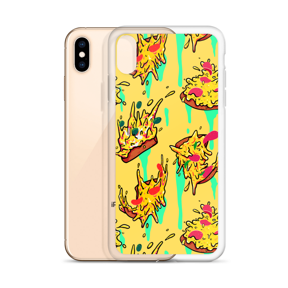 Falling Pizza iPhone Case - BlackKohco