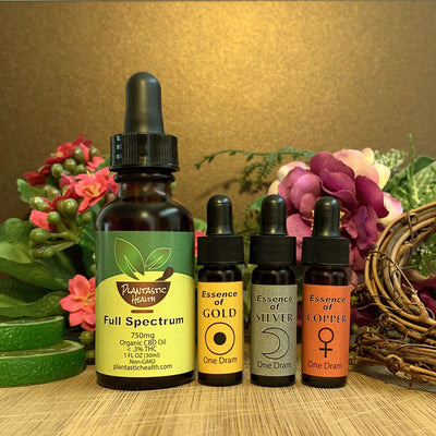 Essences of Gold/Silver/Copper & CBD Full Spectrum w/ Gold Drops Bundle