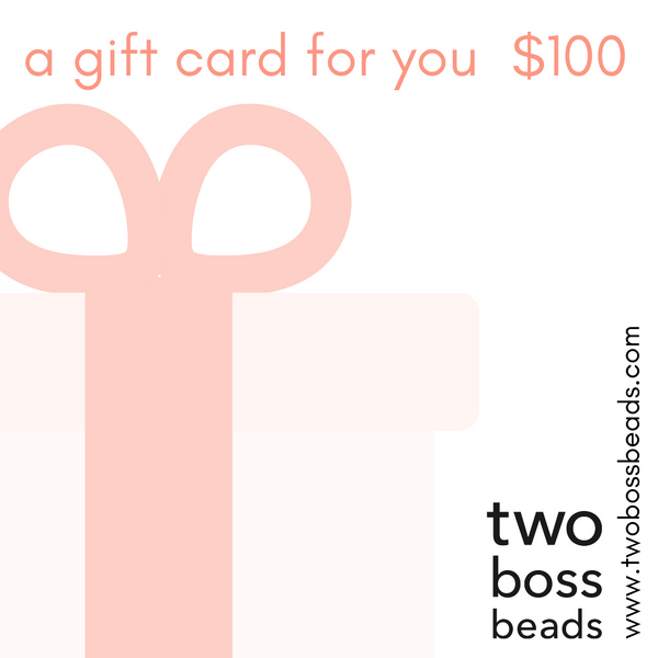 Two boss beads gift card