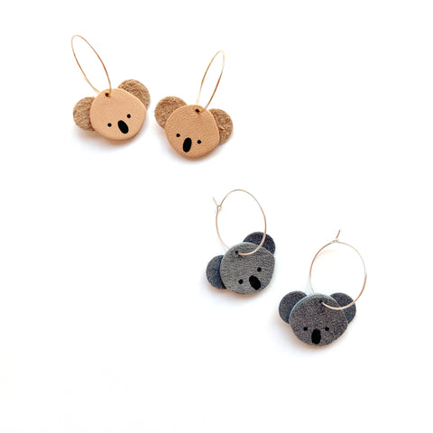 Koala earrings by Two boss beads