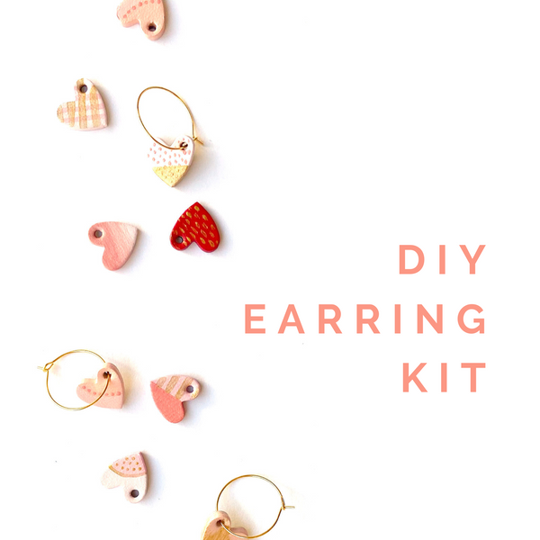 DIY heart earring kit by Two boss beads