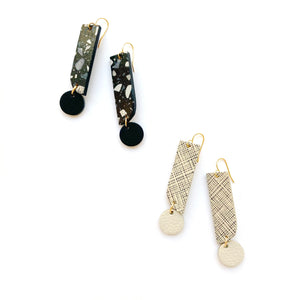 Exclamation point earrings by Two boss beads