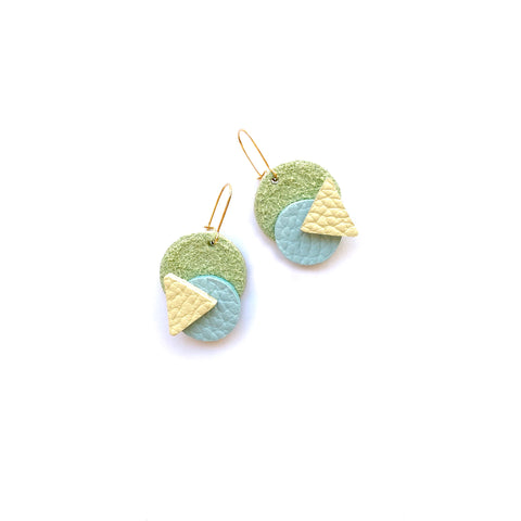 Eighties Geometric earrings by Two boss beads