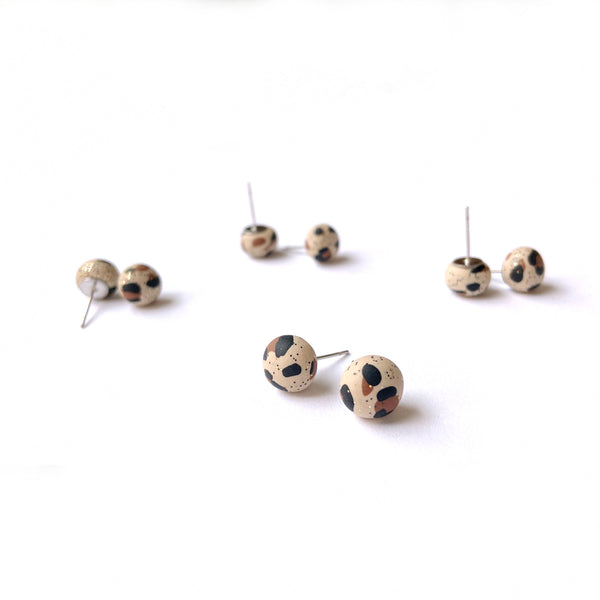 Leopard stud earrings