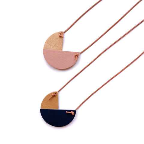 Geometric pendant necklace by Two boss beads