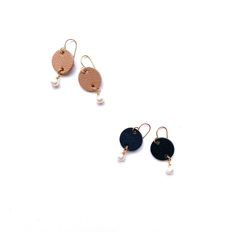Small circle drop earrings by Two boss beads