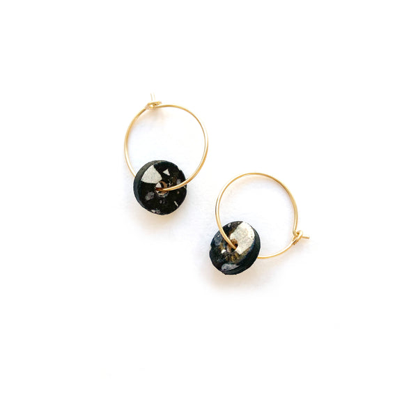 Small gold hoop earrings by Two boss beads
