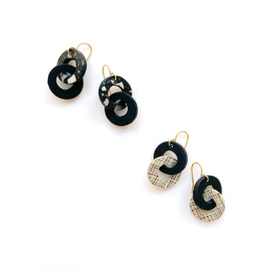 Small chain link earrings by Two boss beads