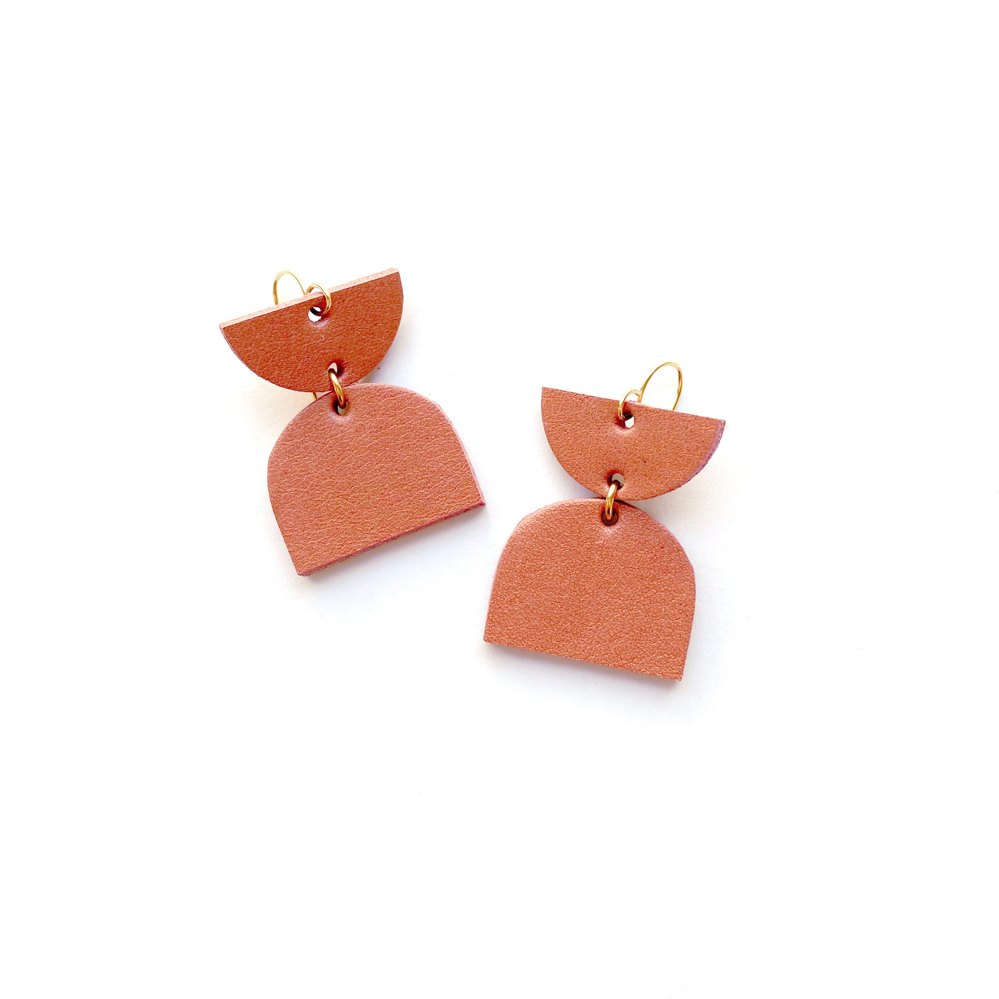 Geometric earrings by Two boss beads