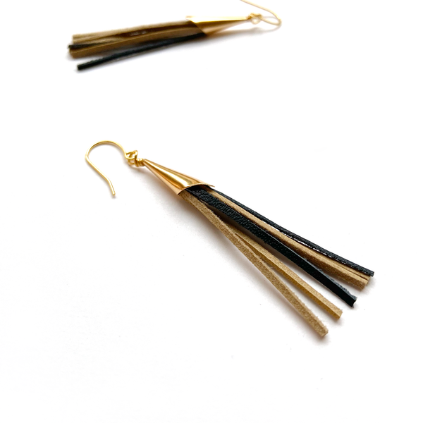 Tassel earrings by Two boss beads