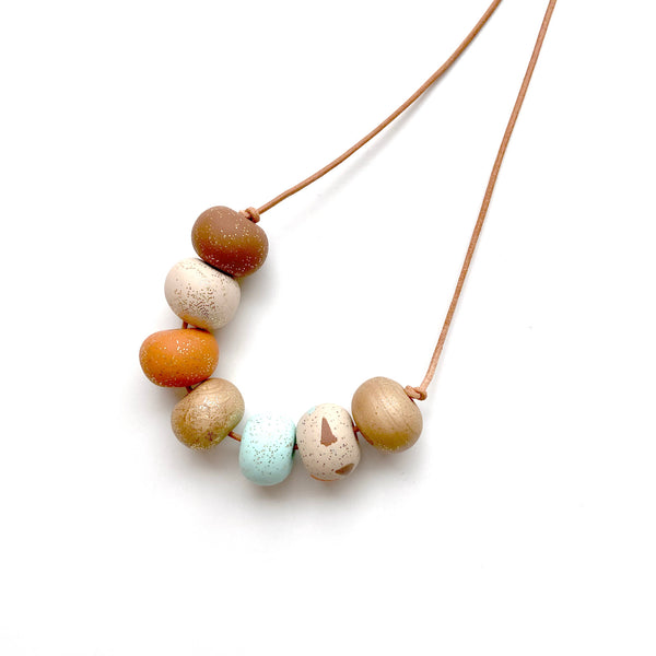 Terrazzo bead necklace by Two boss beads