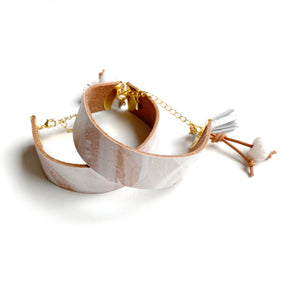 Leather cuff bracelet by Two boss beads