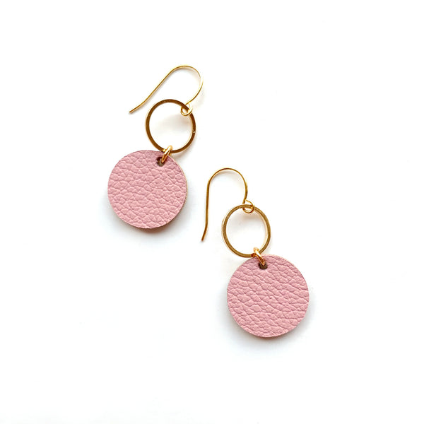 Small  pink drop earrings by Two boss beads
