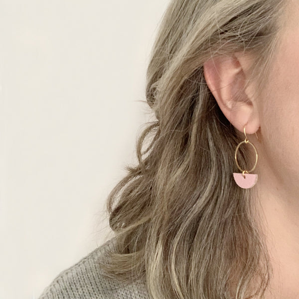 Two boss beads statement earrings