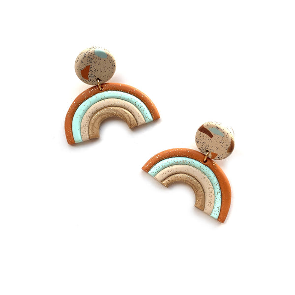 Rainbow earrings by Two boss beads