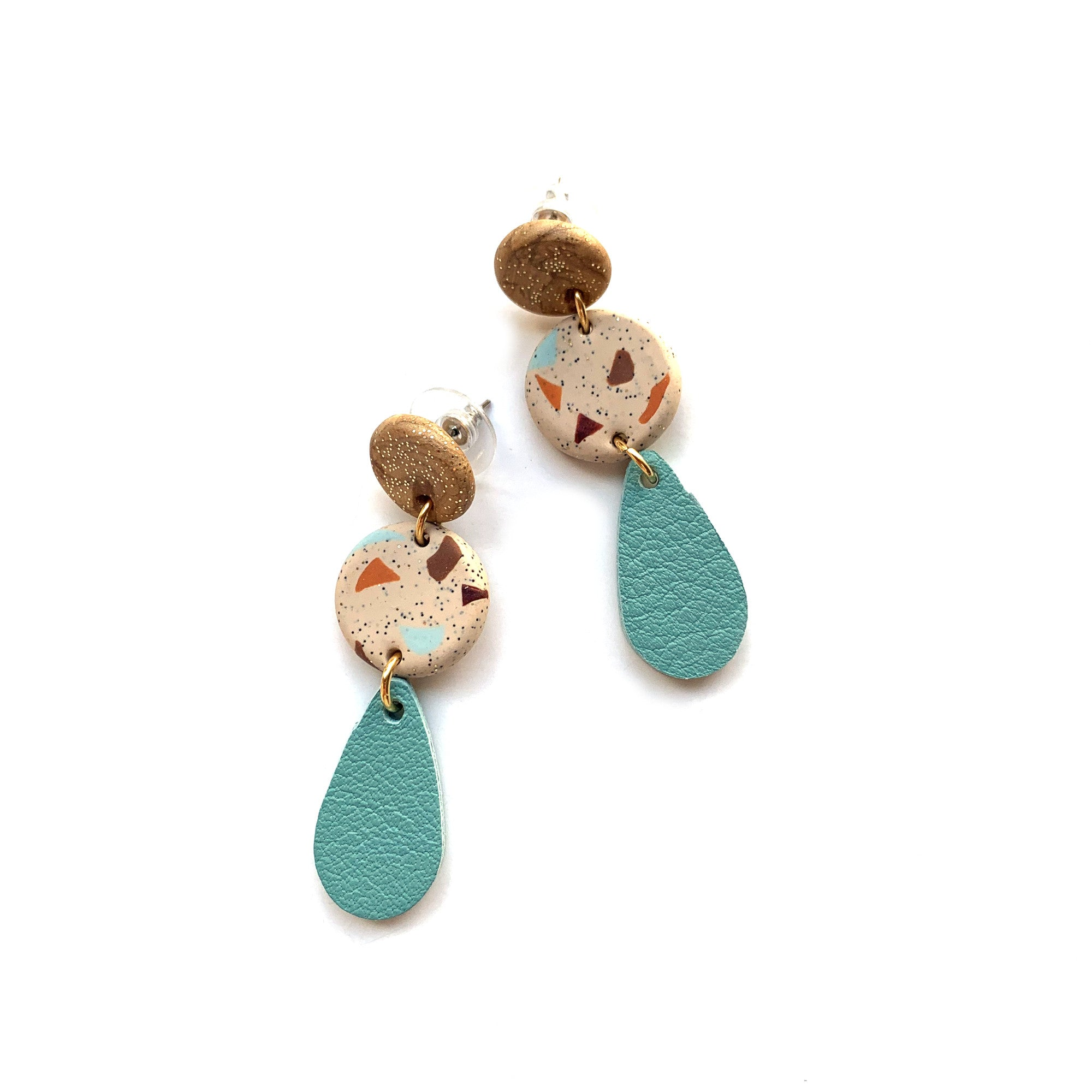 Teardrop earrings by Two boss beads