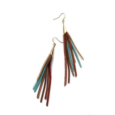 Boho tassel earrings by Two boss beads