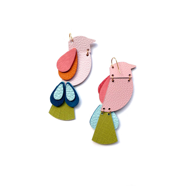 Bird earrings by Two boss beads