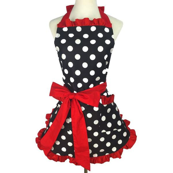 Today's Deal - $24 OFF Lovely Vintage Sweetheart Red Bib 100% Cotton Apron