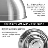 Stainless Steel Mixing Bowls, Non Slip, Nesting, Whisking Bowls
